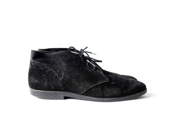 Black suede ankle boots | Women's 7.5/8