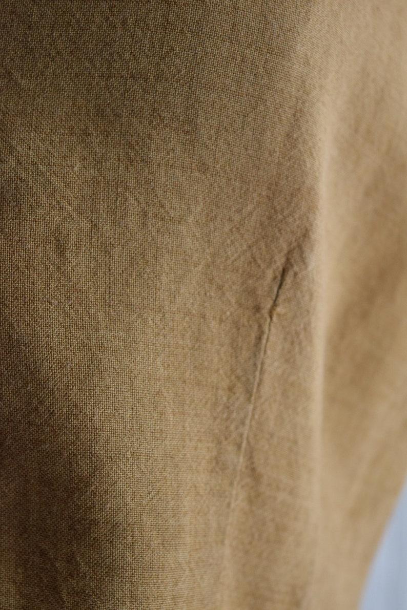 camel linen sleeveless blouse sm