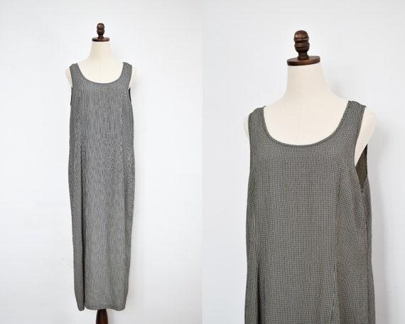 boxy plaid maxi dress   l/xl