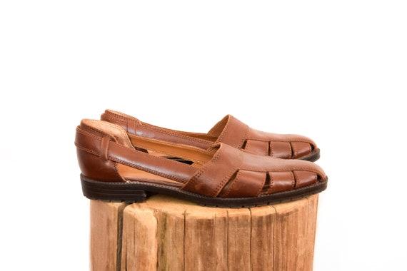 vintage leather huarache sandals | 8