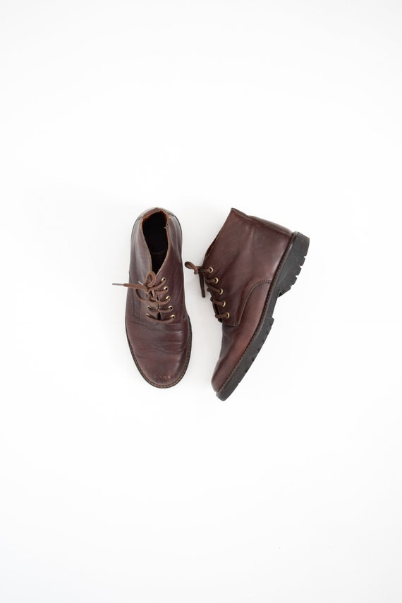 leather ankle boots | 8