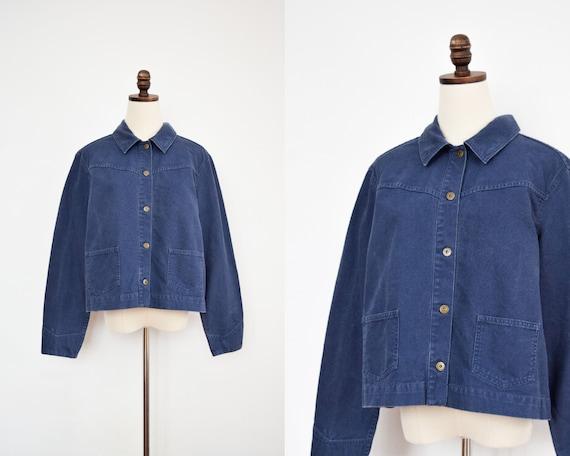 cropped chore coat | large