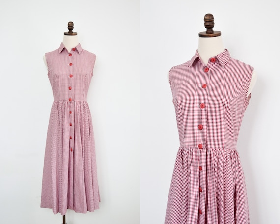 vintage gingham house dress | xs/s