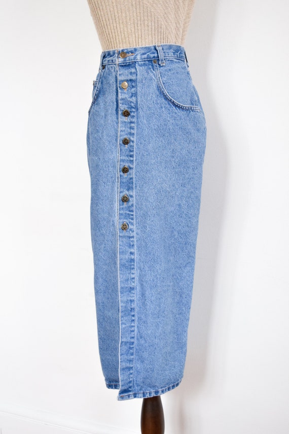 button front denim skirt | 26 - image 3