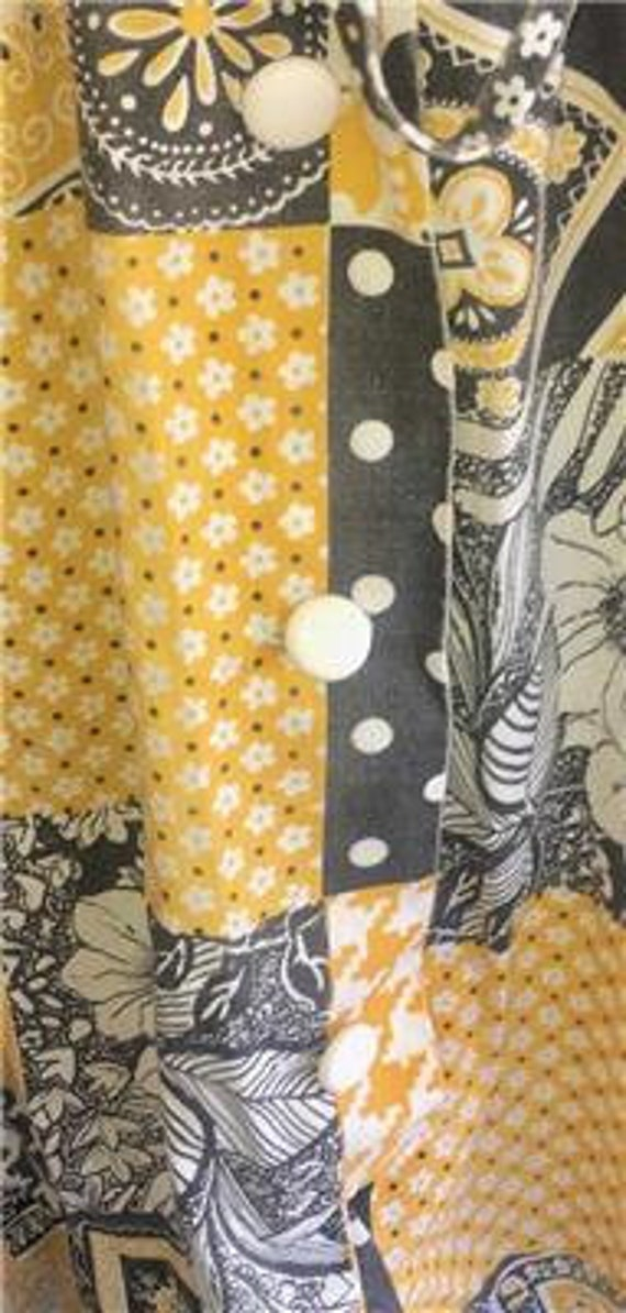Vtg Patchwork Dress sz 10 Oasis VLV Long Yellow 1… - image 6