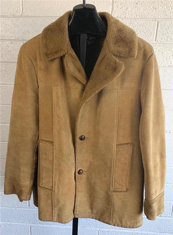 Vintage SEARS The Leather Shop Jacket sz 44 1970's