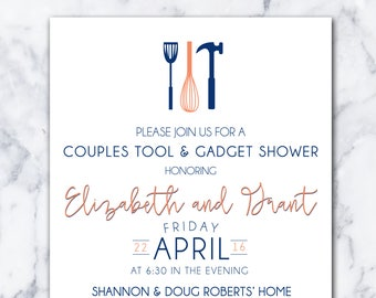 Couples Tool & Gadget Shower // DIY Digital Download // Personalize Colors!!