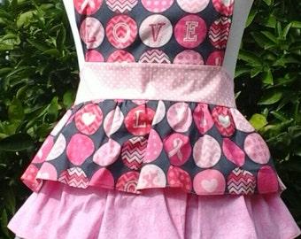 Pretty in Pink ruffled apron.