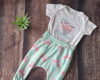 Pumphose Baby Baby Pants Flamingos Pink