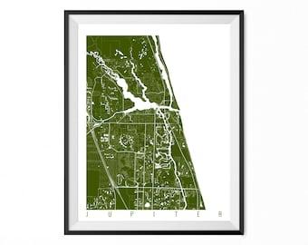 Jupiter Florida Map.Jupiter Florida Map Etsy