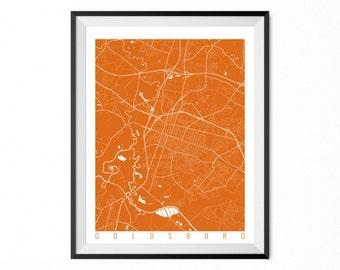 GOLDSBORO Map Art Print / Goldsboro City Poster / Goldsboro Wall Art / North Carolina/ Gift / North Carolina home decor