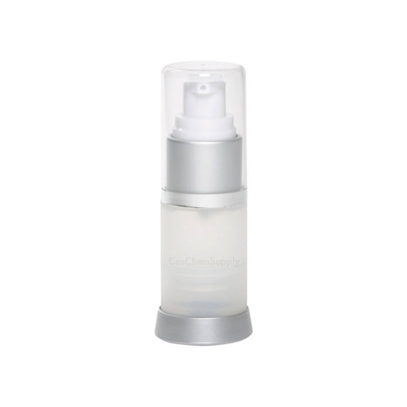 0723dbc44005 Airless Pump Bottle Silver Frosted 0.5 oz (15 mL) 3 Pack