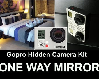 GOPRO 3 Hidden Camera Kit,Turn Your Gopro Into a Spy Camera! One Way Mirror, LOOK!