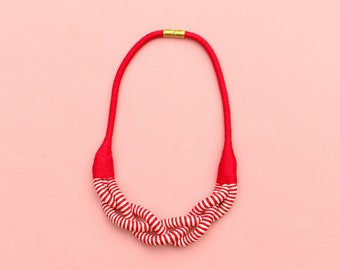 5eea7df8dc69 Red White Statement Necklace For Women