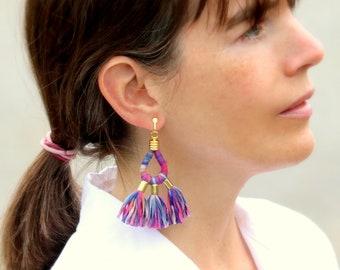 Statement Tassel Earrings, Unique Gifts For Women