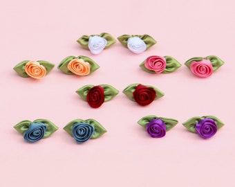 Blumen Ohrstecker, Stoffohrringe Blüten