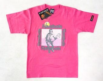 6419689f1a13 90s reebok t-shirt, reebok graphic shirt, neon pink tshirt, tennis reebok,  reebok classics, vintage reebok, new with tags, 90s clothing
