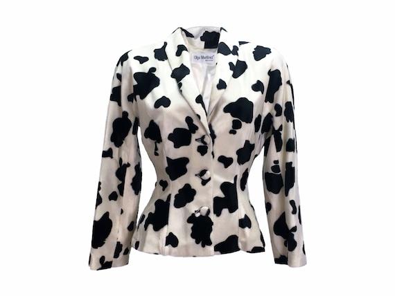 Cow print, cow print blazer, 90s clohing, y2k clot