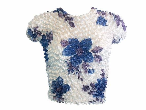 Crinkle tops, popcorn top, 90s ruched top, 90s cl… - image 2