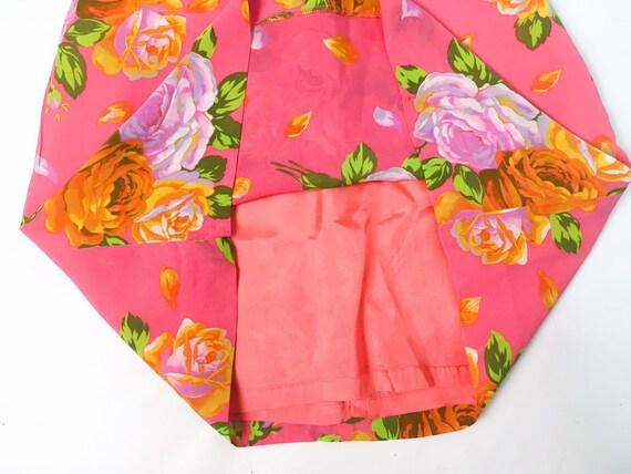 Kenzo floral dress, 90s floral dress, pink slip d… - image 4
