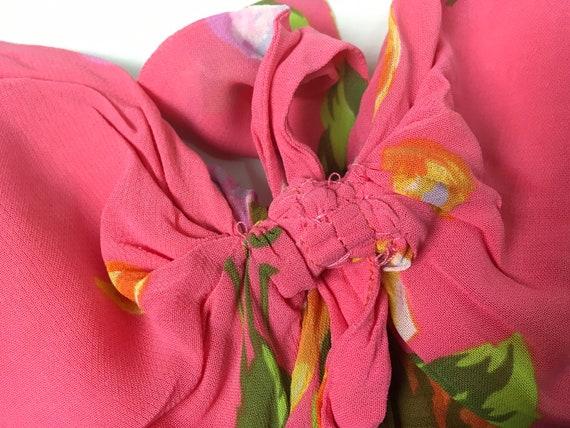 Kenzo floral dress, 90s floral dress, pink slip d… - image 7