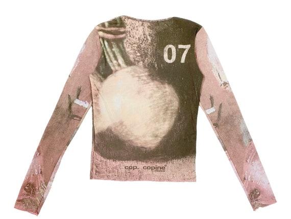 90s mesh top, vintage still life, artichoke print… - image 3