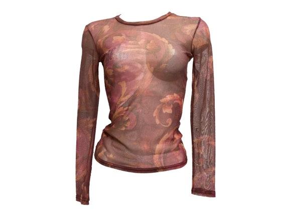 90s mesh top, Abstract mesh top, mesh top tattoo,… - image 2