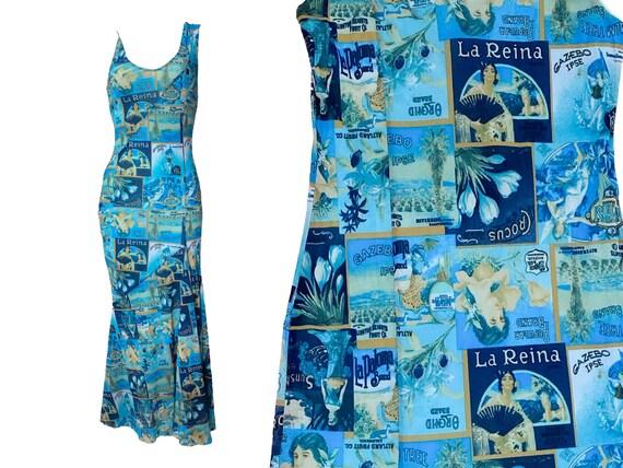 90s Mesh dress, asymmetrical dress, 2000s slip dre