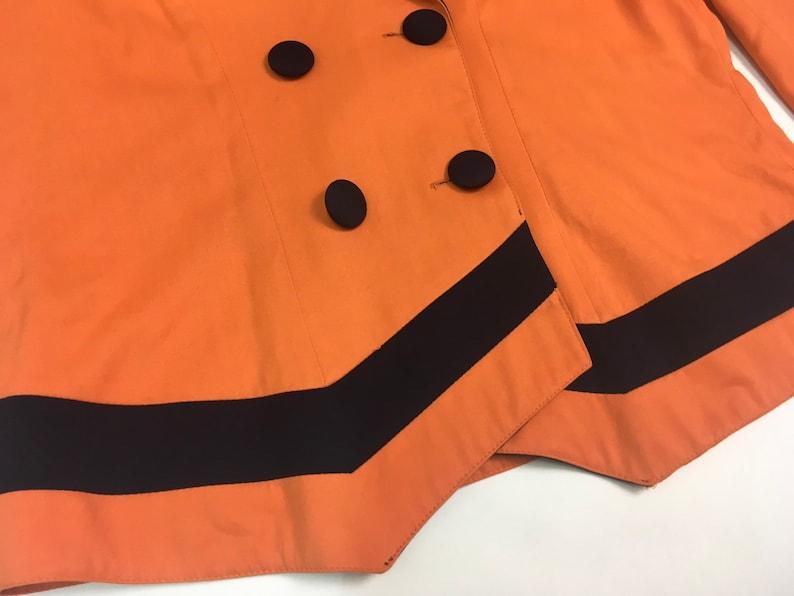 orange vintage blazer 80s blazer 80s clothing vintage blazer orange jacket vintage clothing plus size clothing 80s orange blazer