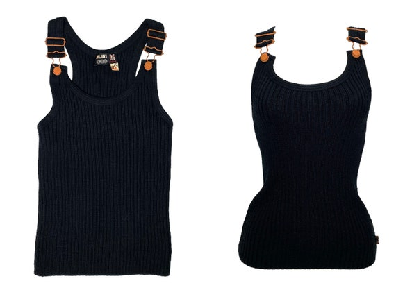 Gaultier Jean's, JPG jeans, 90s ribbed knit top, g