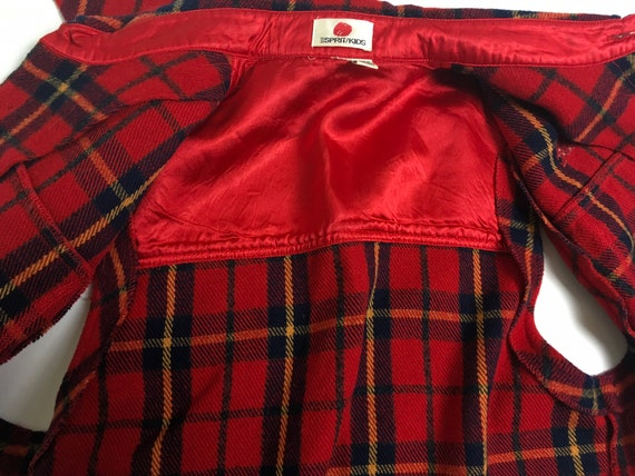 90s waistcoat, vintage wool tartan, tartan fleece… - image 6