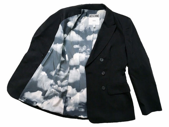 Moschino clouds, 90s Moschino jacket, Moschino bla