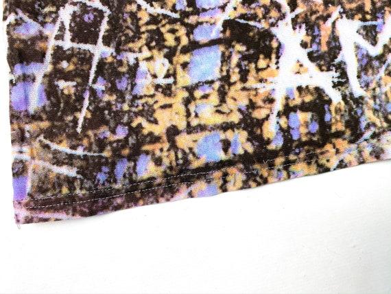 90s mesh top, abstract print top, vintage mesh to… - image 5
