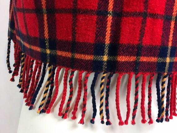 90s waistcoat, vintage wool tartan, tartan fleece… - image 5