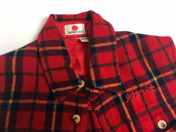 90s waistcoat, vintage wool tartan, tartan fleece… - image 3