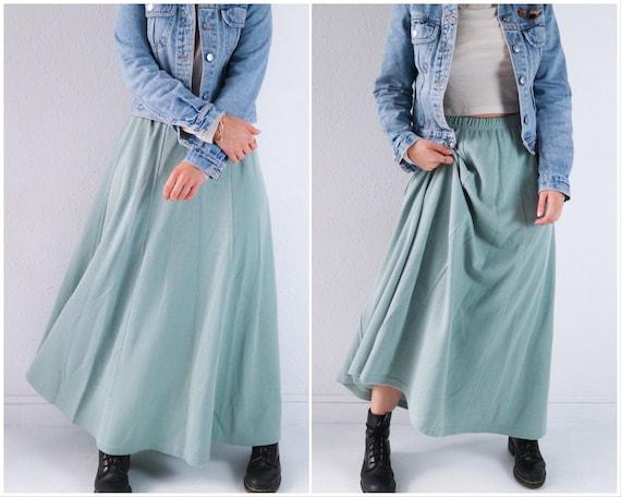 fa0983964d1 Maxi skirt mint green skirt plus size skirt 90s skirt