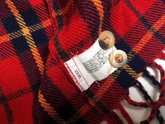 90s waistcoat, vintage wool tartan, tartan fleece… - image 7
