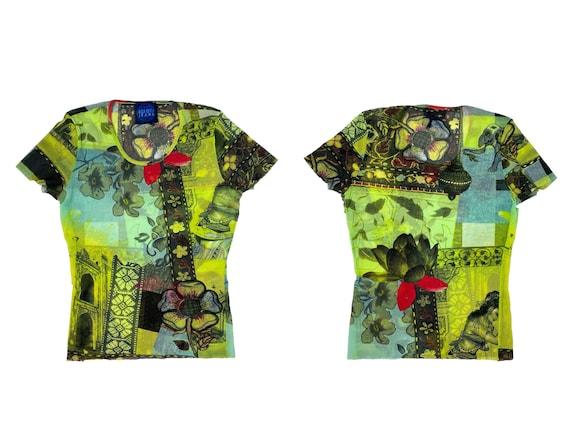 Kenzo mesh top, 90s clothing, 90s mesh top, Kenzo