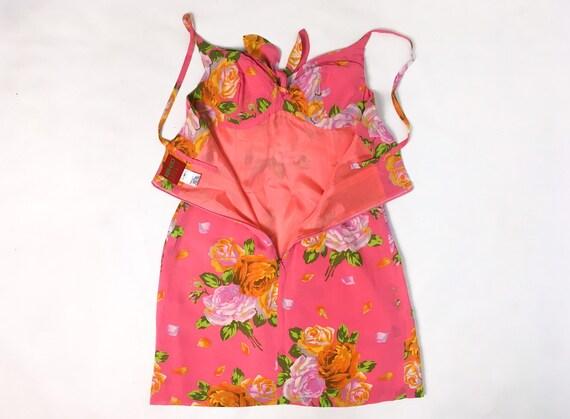 Kenzo floral dress, 90s floral dress, pink slip d… - image 3