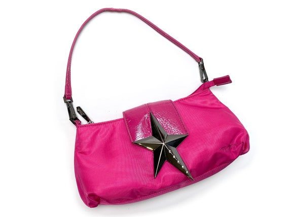 Thierry Mugler, nylon shoulder bag, Thierry mugler