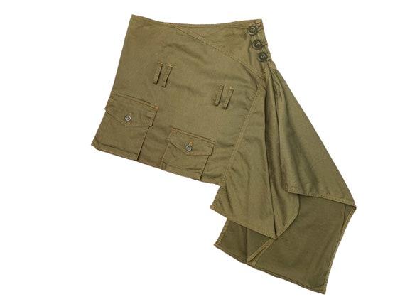 Asymmetrical skirt, asymmetrical cargo skirt, gree