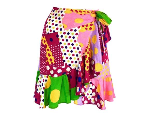 Christian lacroix vintage, vintage wrap skirt, pol