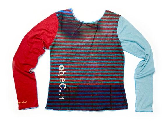 90s mesh top, nautic style, vintage mesh top, stri
