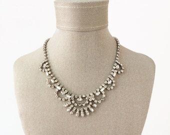 Vintage Choker, Bridal Choker, Wedding Choker, Art Deco Necklace, Bridal Necklace, Rhinestone Necklace, Crystal Necklace, Wedding Necklace
