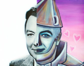 Jack Haley as Tin Man (Wizard of Oz) - Signed Art Print - Free Shipping - by Carlie Pearce