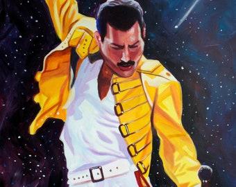 Freddie Mercury - Signed Art Print - Free Shipping - by Carlie Pearce