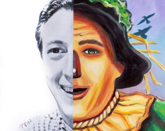 Ray Bolger as Scarecrow in The Wizard of Oz - Signed Art Print - Free Shipping - by Carlie Pearce