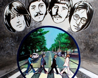 The Beatles - Signed Art Print - Free Shipping - by Carlie Pearce