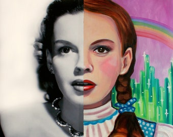 Judy Garland as Dorothy - Signed Art Print - FREE Shipping - by Carlie Pearce