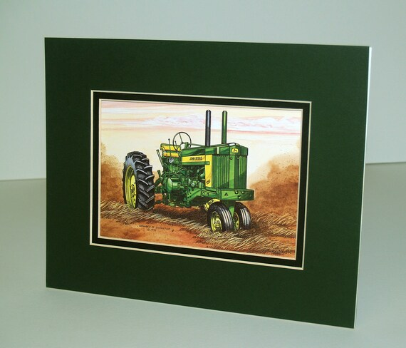 John Deere Model 720 1956 1958 Unframed Art Print Great Etsy